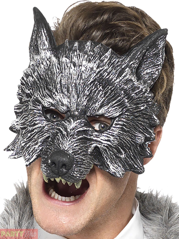 Big Bad Wolf Mask Adult Halloween Costume Fancy Dress