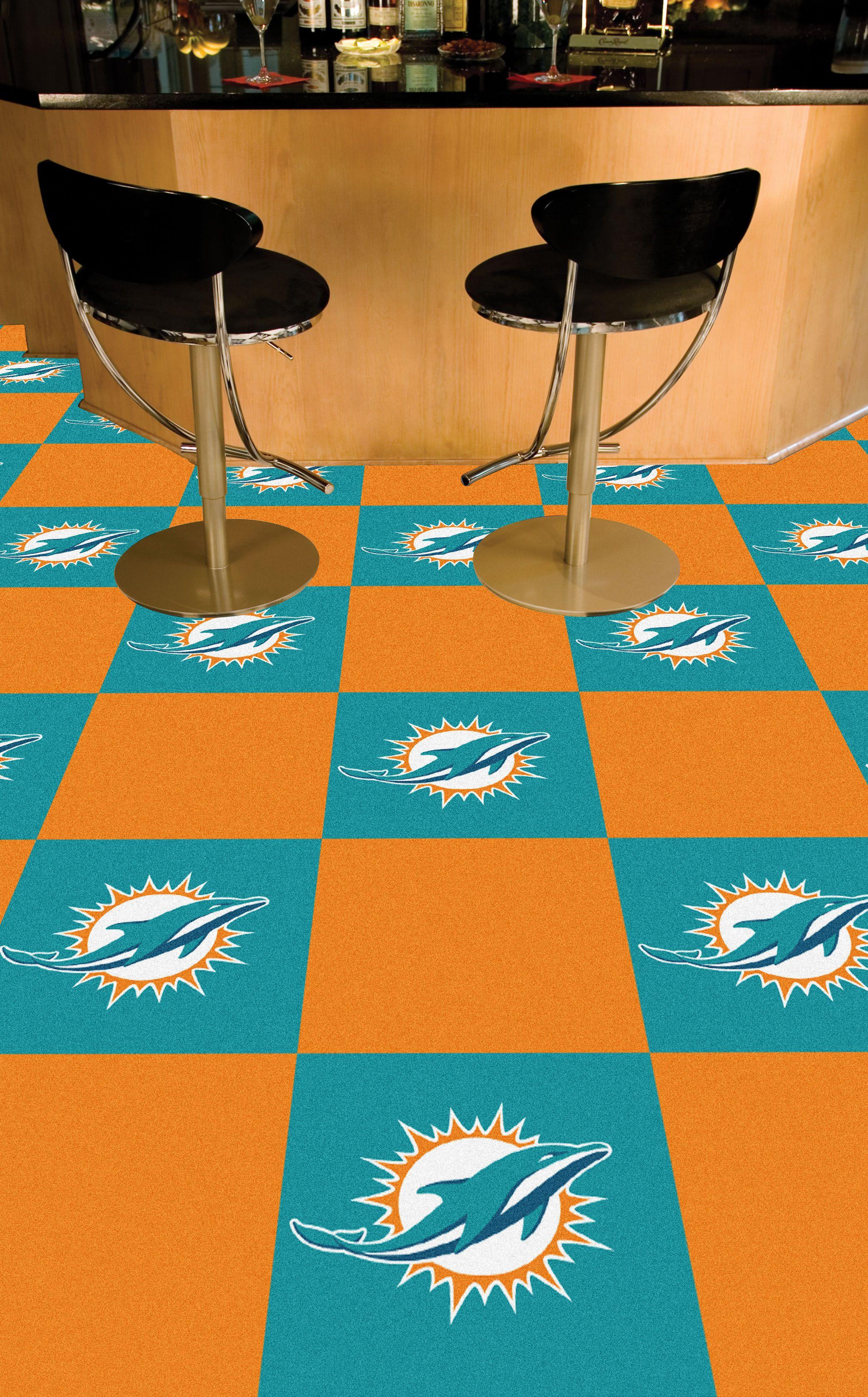 NFL Miami Dolphins Carpet Tiles | Best Carpet Value ...