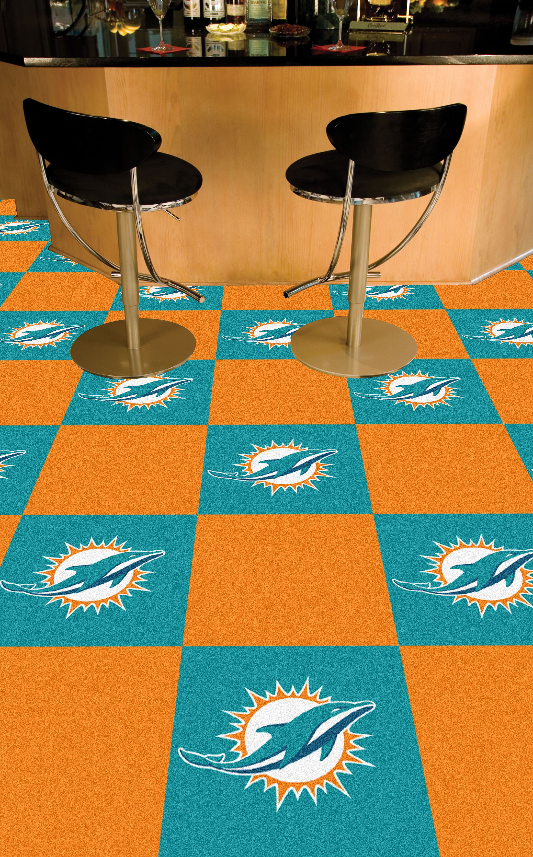 NFL Miami Dolphins Carpet Tiles