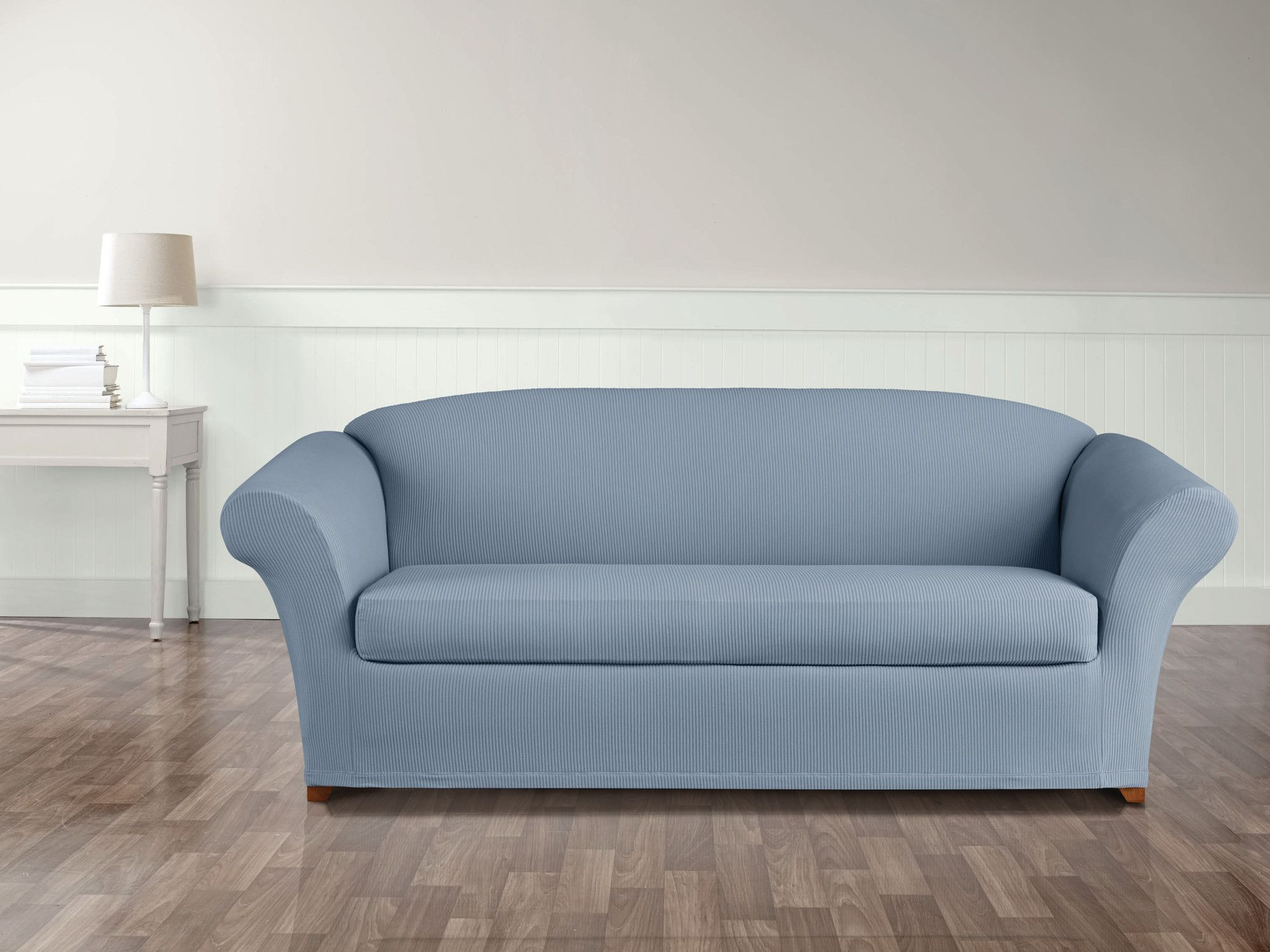 Stretch Seersucker Sofa Slipcover