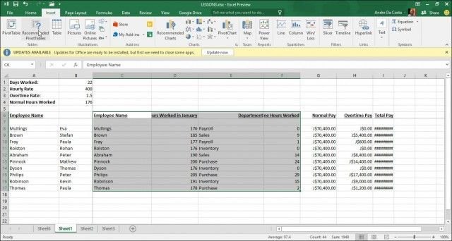 Recommende Pivot Tables2 Microsoft excel Pinterest Microsoft excel - Create A Spreadsheet In Excel