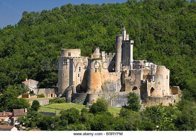 Chateau de Bonaguil in Lot et Garonne, France, Europe - Stock Image