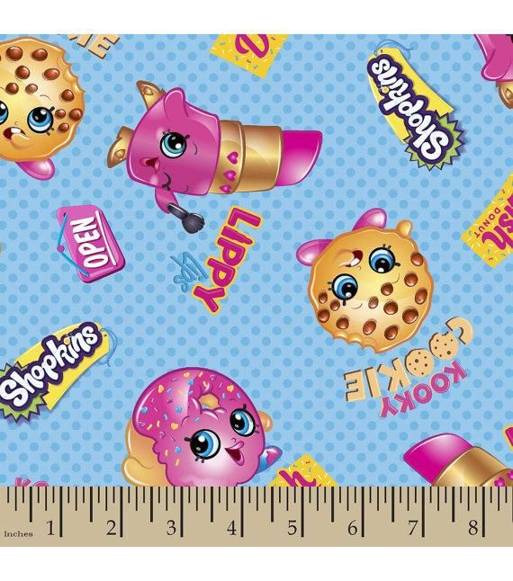 Shopkins Names Cotton Fabric By The Yard