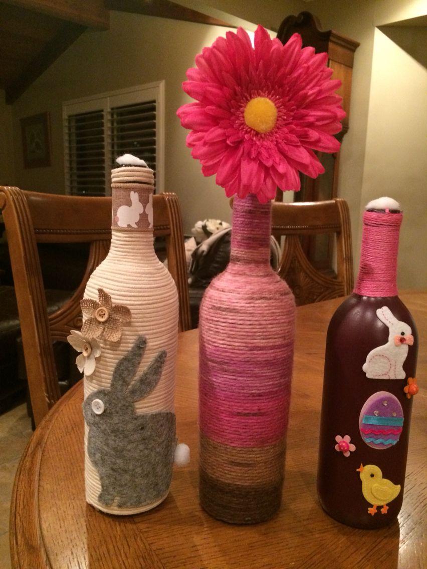 Easter Wine Bottles Easter Bottle Crafts Wine Bottle Crafts Easter Wine Bottles