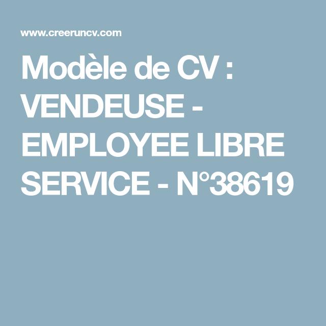 Modele De Cv Vendeuse Employee Libre Service N 38619 Modele Cv Modele Cv Gratuit Cv Vendeur