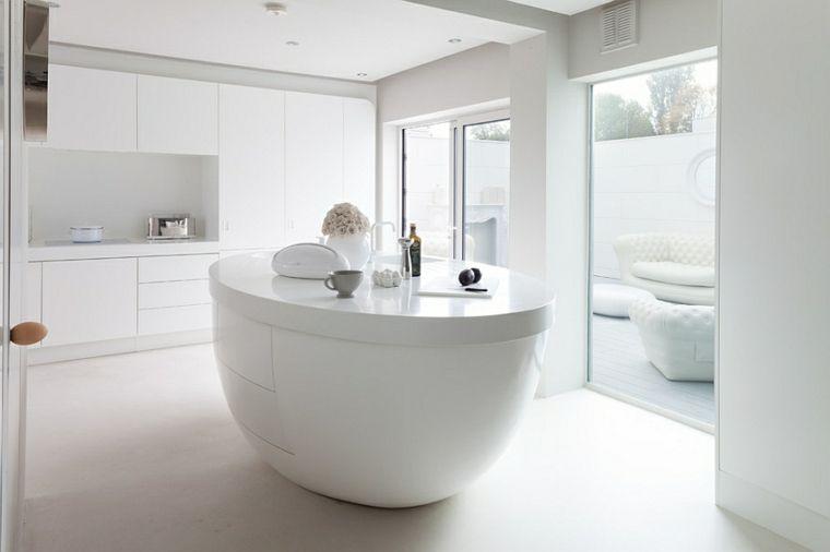 Cucine Moderne Bianco.Arredamento Tutto Bianco Immagini Cucine Moderne Con Isola