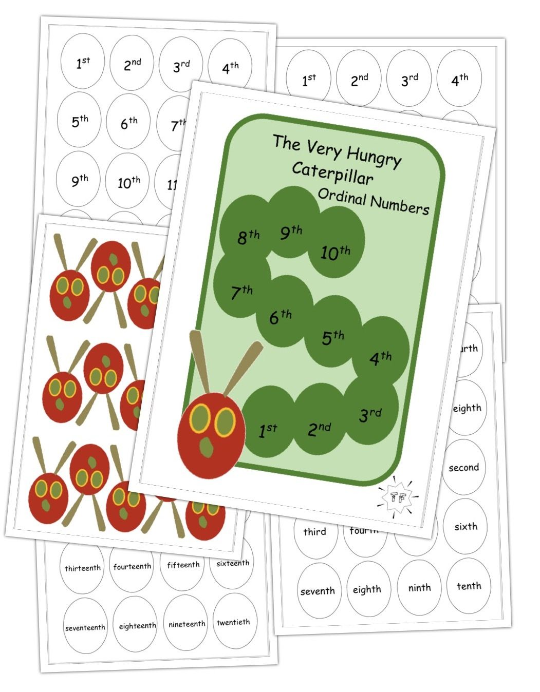 The Very Hungry Caterpillar Ordinal Counting