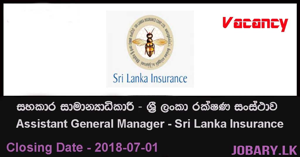 Assistant General Manager Sri Lanka Insurance Jobs Government