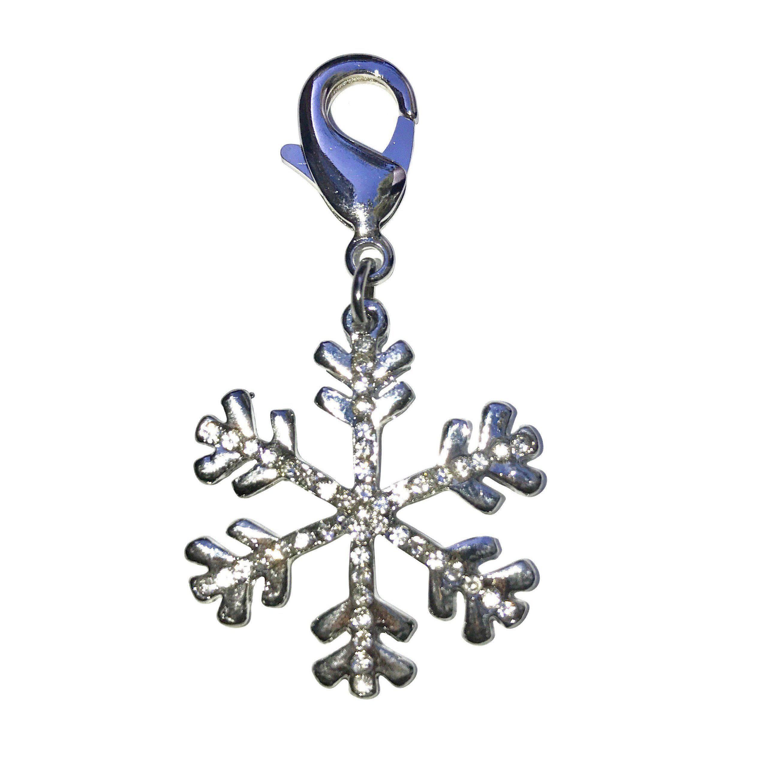 Snowflake Dog Collar Charm