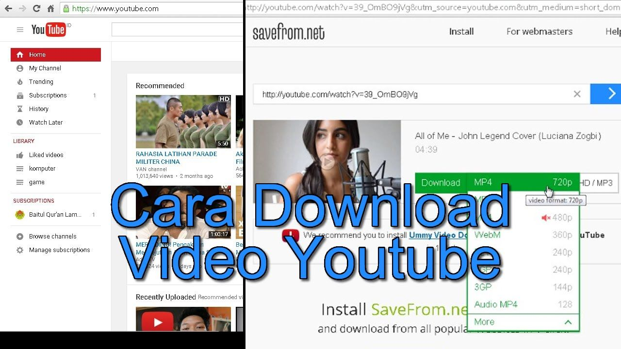cara download video dari youtube full hd