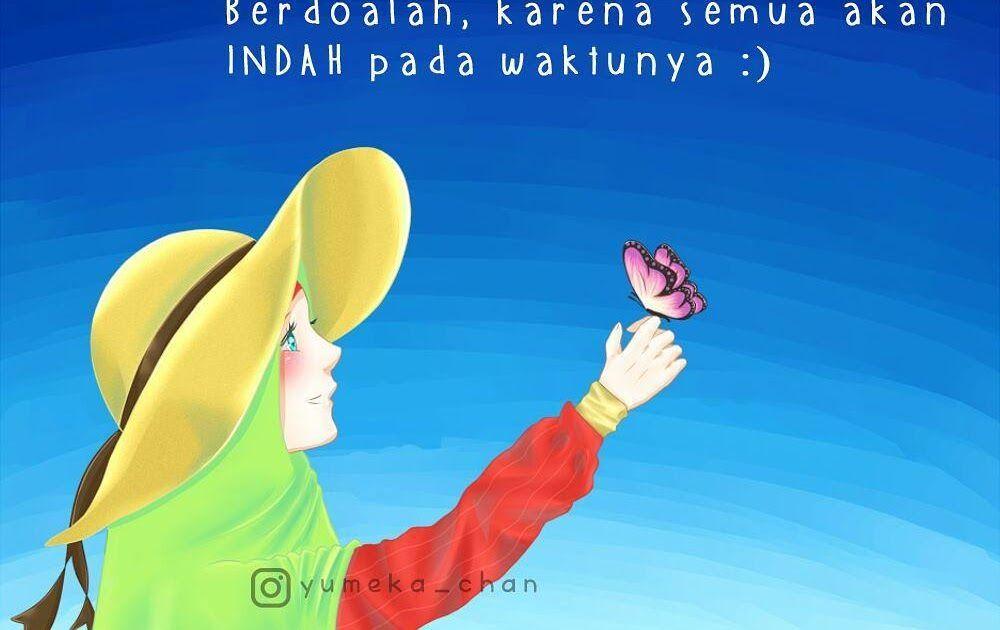 Gambar Kata Islami Wanita Hijab Dengan Gambar Kartun Gambar