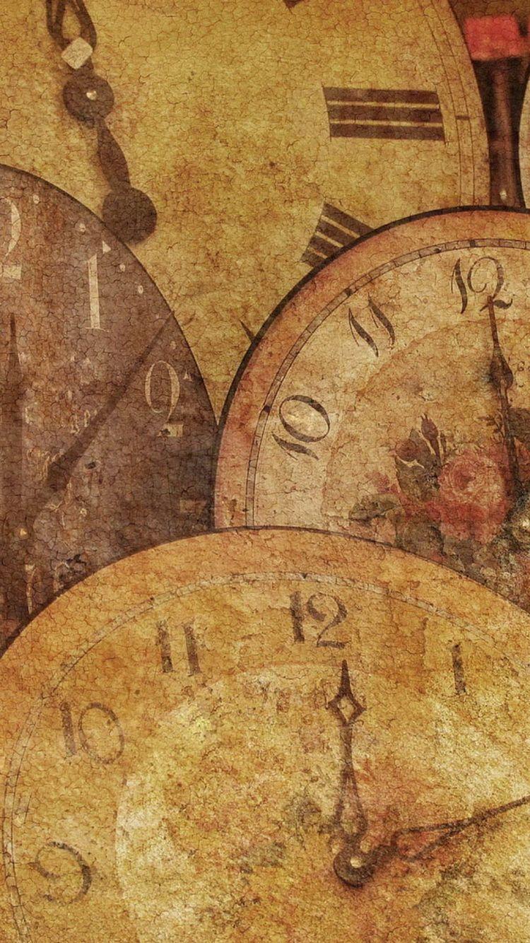 Download Antique Clocks Vintage iPhone 6 Wallpaper | iPhone Wallpapers 4 | Pinterest | Antique ...