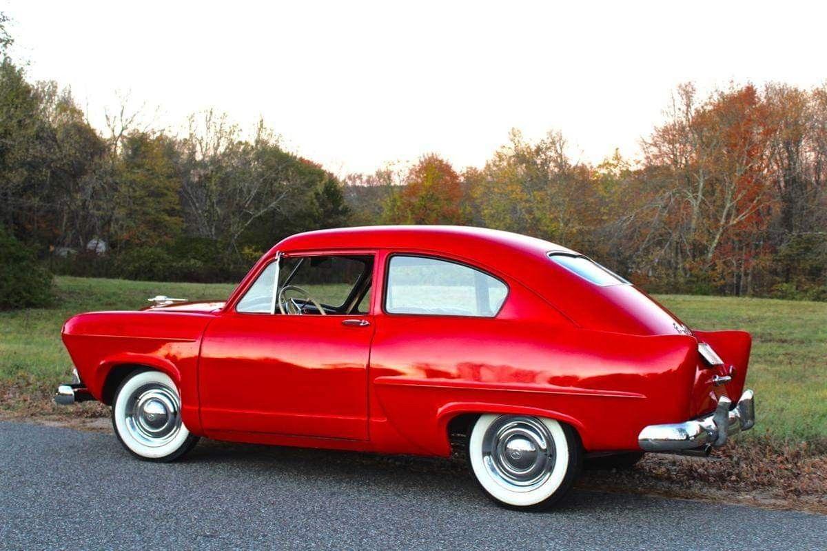1951 Henry J Classic cars, Red car, Car cartoon
