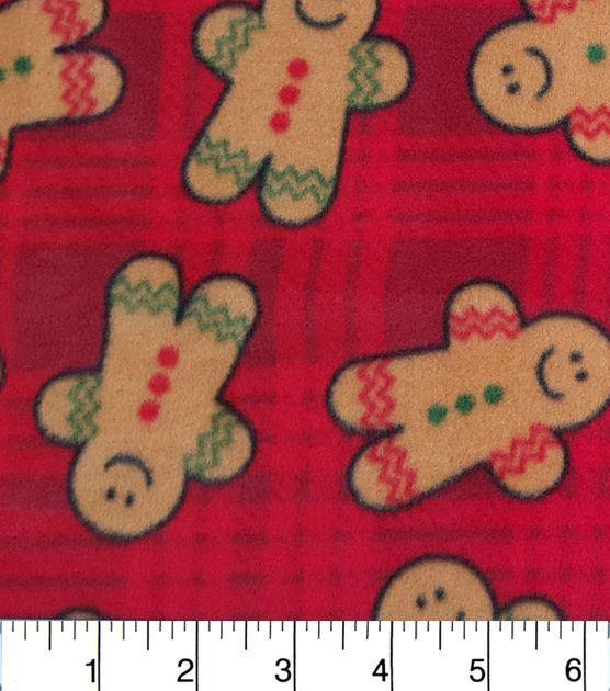 Christmas Fleece.Christmas Fleece Fabric Tossed Gingerbread Men Flc Sewing