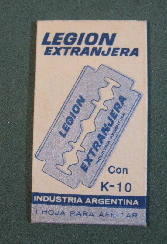 Very Nice, Safety Razor blade, Legion Extrangera,Industria Argentina, Never used