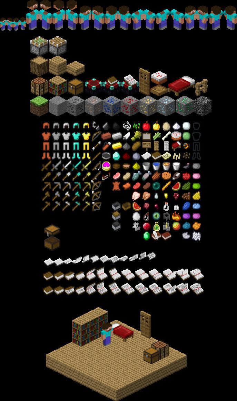 Minecraft Sprite Sheet 2d Sprites Pinterest Sprites