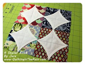 Quilting Tutorials and Fabric Creations | Quilting In The Rain: A Stellar Block
