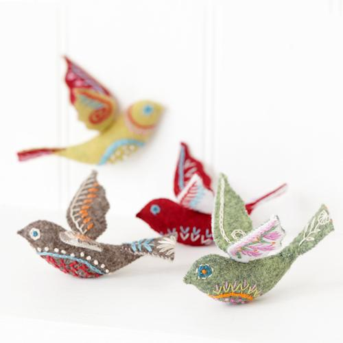 Folk Birds Kit #feltbirds
