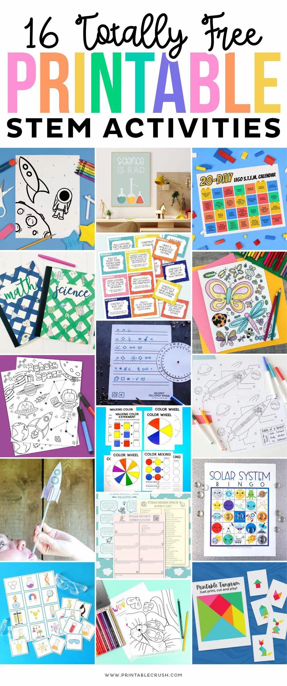 Stem Math Coloring Worksheet Free Printable In 2020 Stem Printables Math Coloring Worksheets Stem Activities