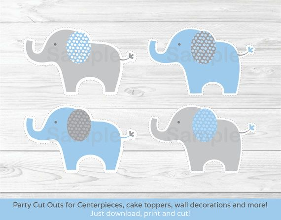 Create adorable decorations for your next baby shower or for Baby shower decoration cutouts