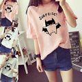 Fashion Women Korean Summer Short Sle...