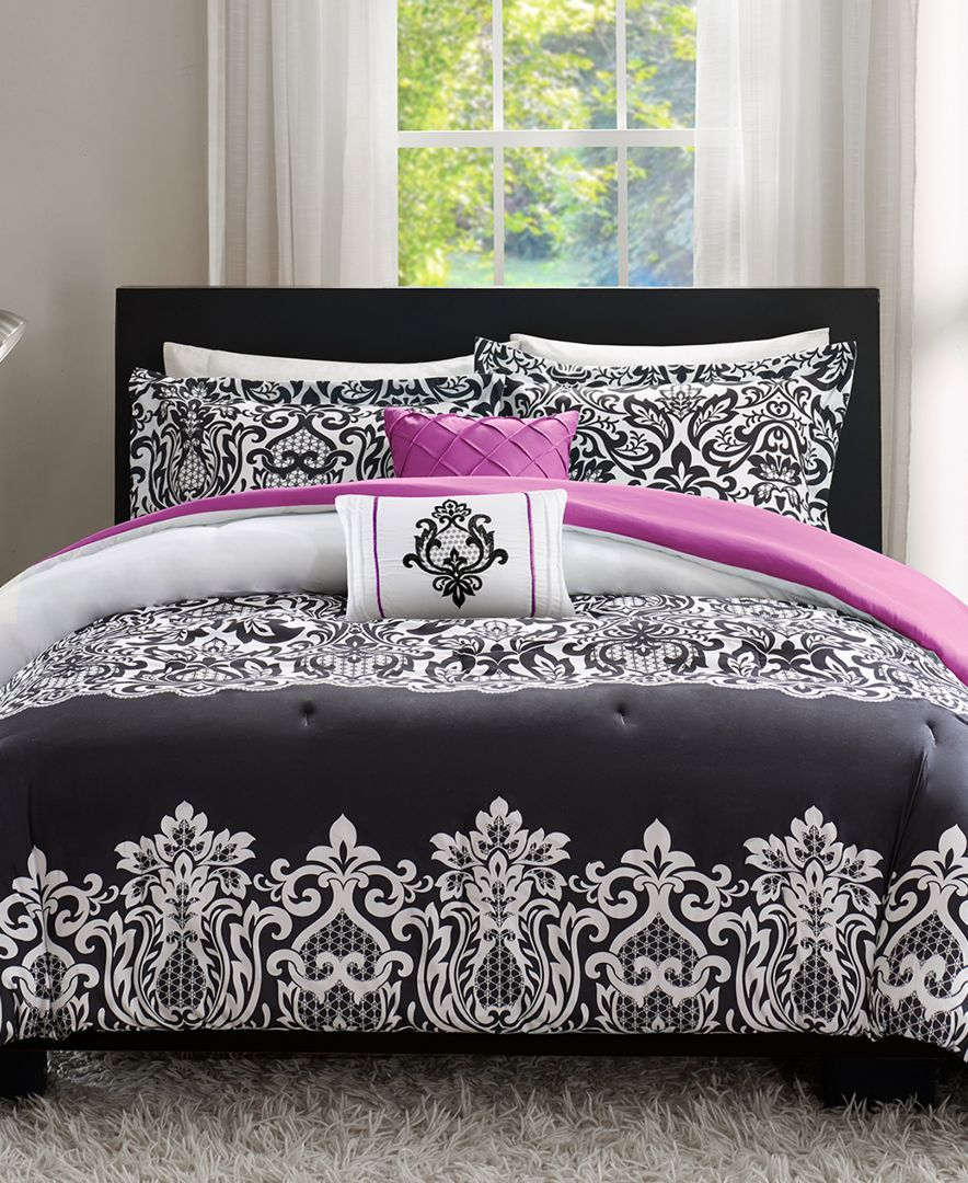 Intelligent Design Leona 4 Pc Reversible Twin Twin Xl Comforter