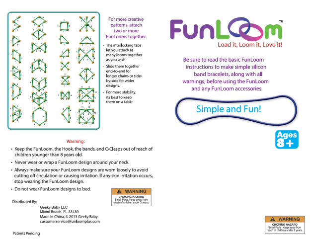 Funloom Instructions One Png Children S Arts Amp Crafts