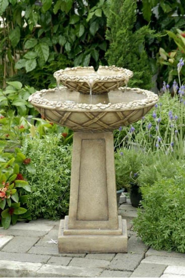Electric Bird Bath Bird Bath Fountain Water Fountains Outdoor Fountains Outdoor