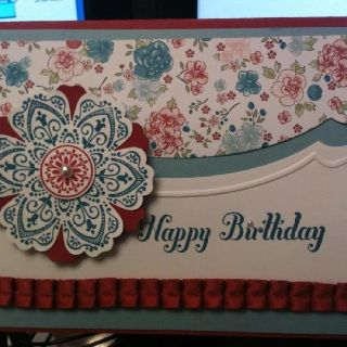 My very first card for a class!