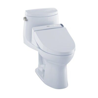 Toto Ultramax Ii 1 28 Gpf Elongated One Piece Toilet With C200 Electronic Bidet Seat Washlet Clean Toilet Bowl Toilet