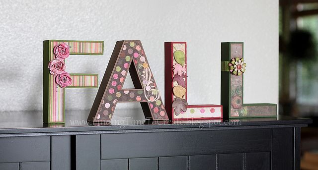FALL-letters by krafting kelly