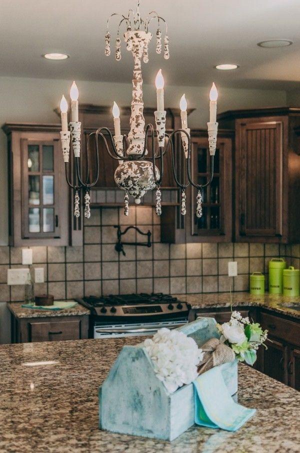 Shabby Chic Kueche Leuchter Dekor | Küche Möbel - Küchen