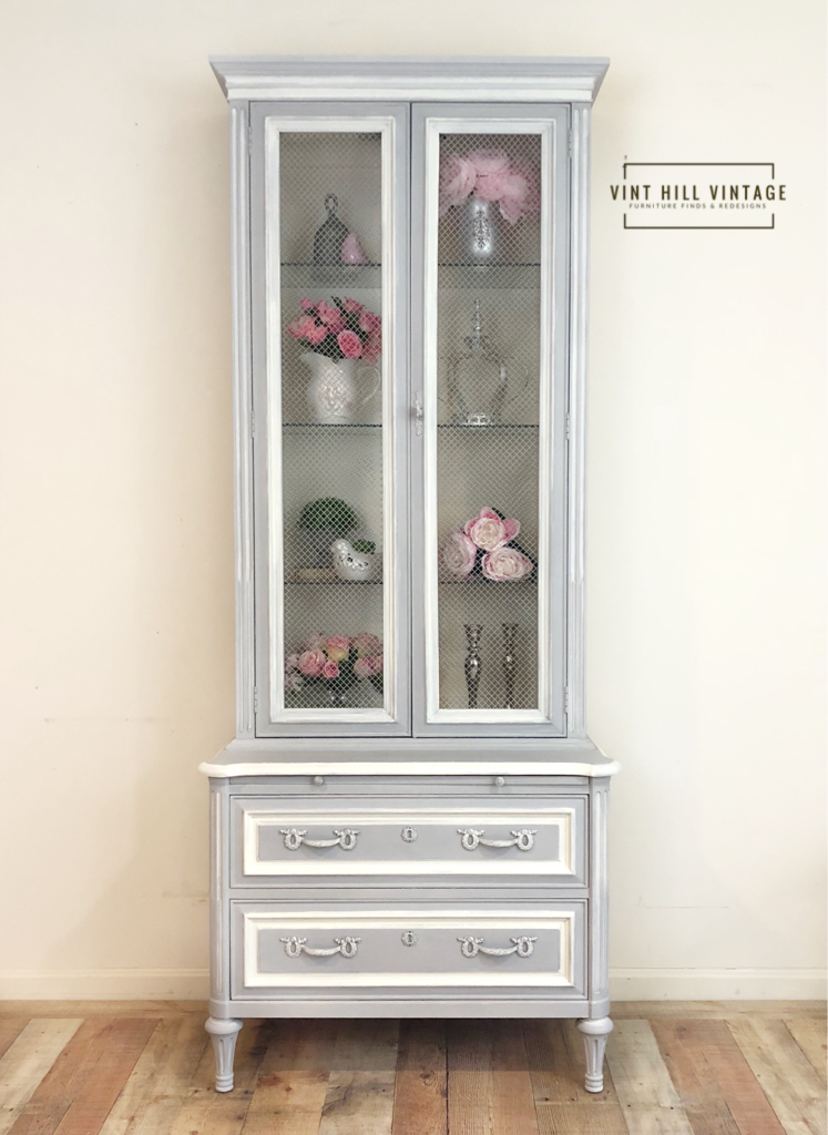 French Provincial Henredon done in AS Paris Gray