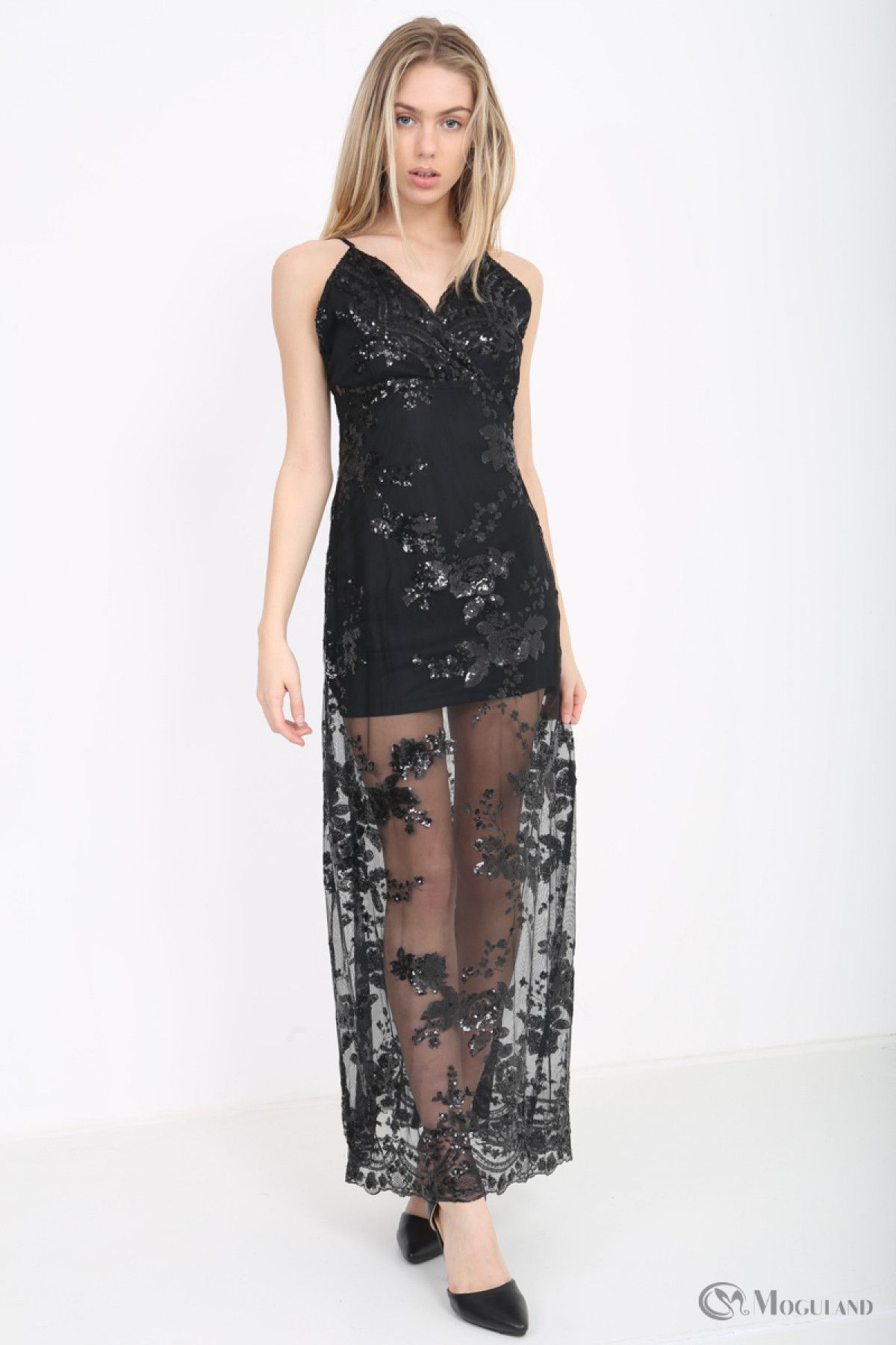 cade9486e3 Ladies black sheer sequin maxi dress wholesale - Women s Wholesale Clothing  Supplier