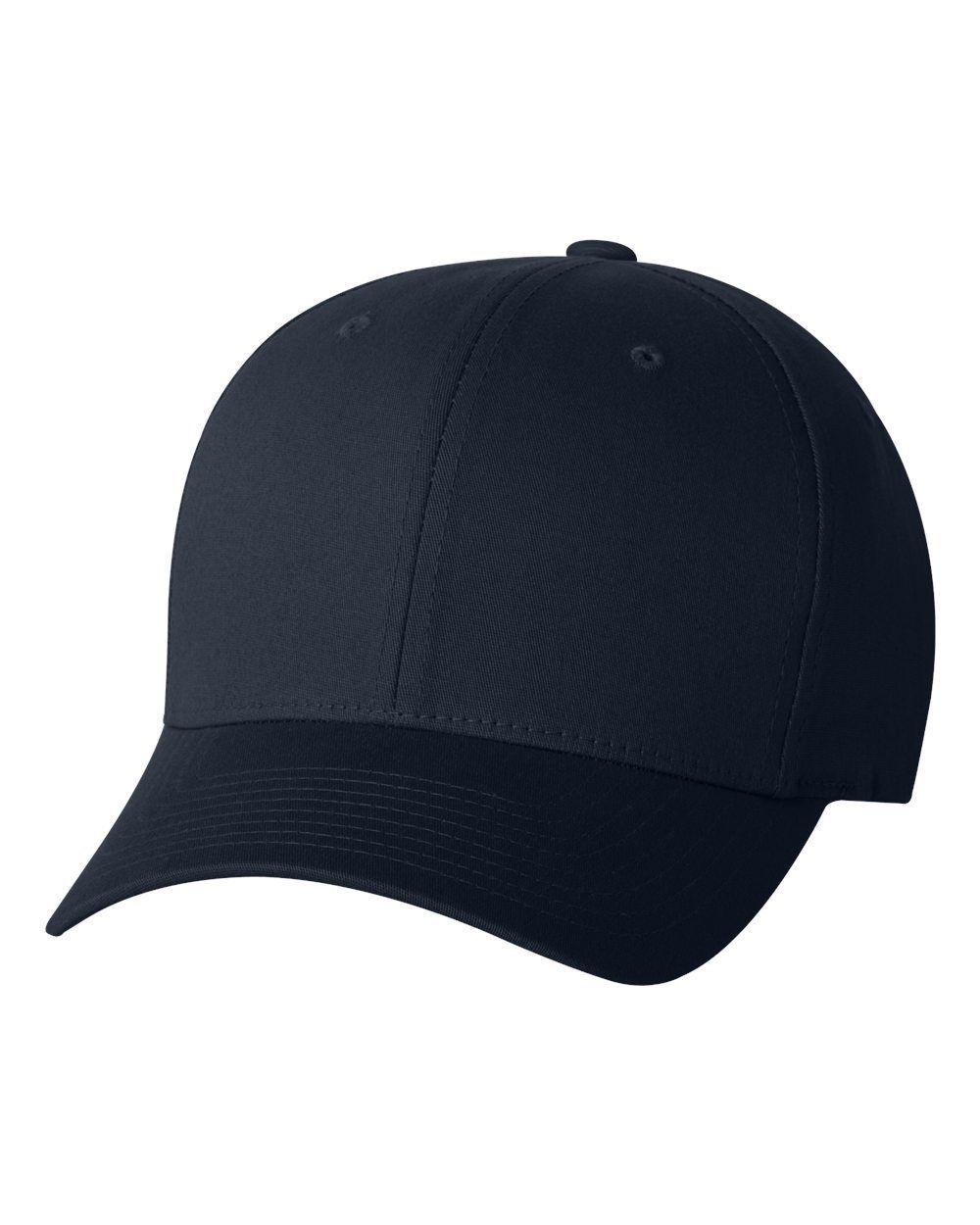 Cotton twill flex fit layflat fitted hats custom