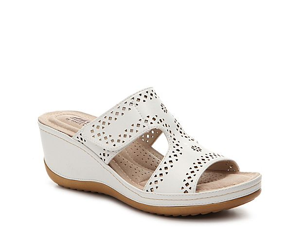 Women Felina Wedge Sandal -White