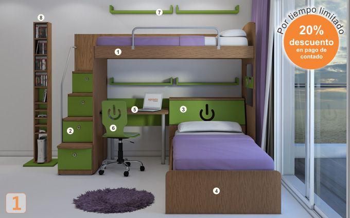 Mueble: (Código R36) camas-marineras-varones - AGIOLETTO, Muebles ...