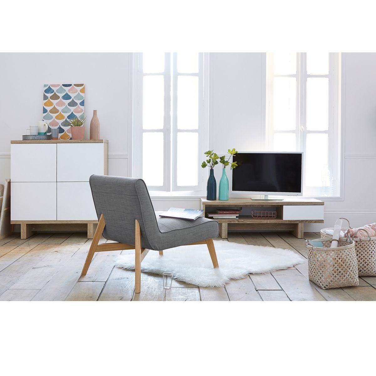 fauteuil jimi gris la redoute interieurs la redoute. Black Bedroom Furniture Sets. Home Design Ideas
