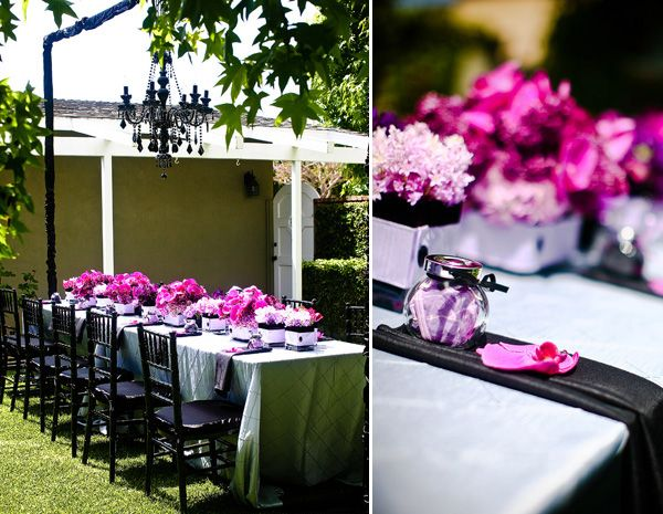 black and lavender party theme