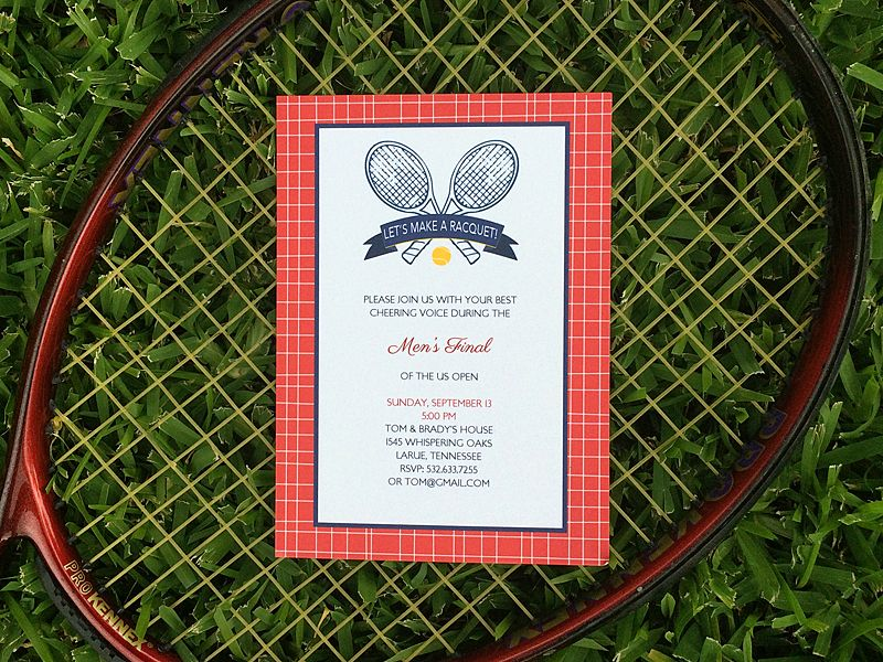 Game Set Match free tennis party invitation | Download & Print ...