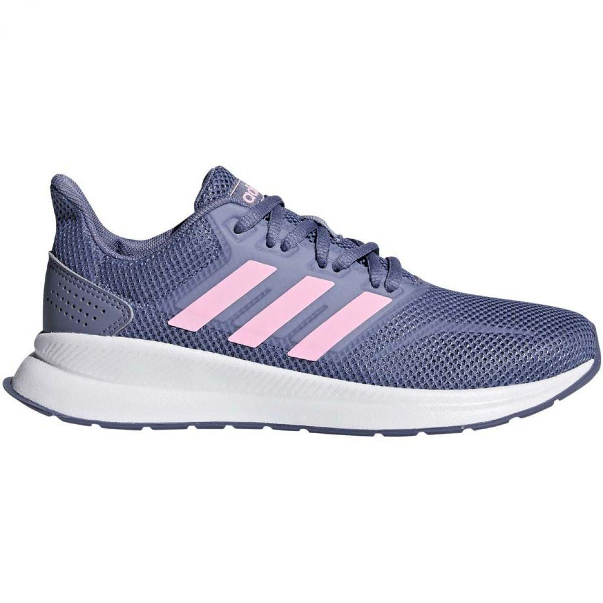 Buty Biegowe Adidas Falcon K Jr F36541 Fioletowe Kids Running Shoes Adidas Running Shoes Adidas Running Shoes Women