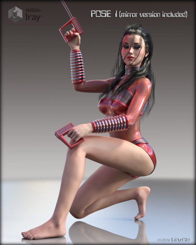 Pin-Up Gynoid Phase6 Morphing Raygun & Poses » Daz3D-Poser