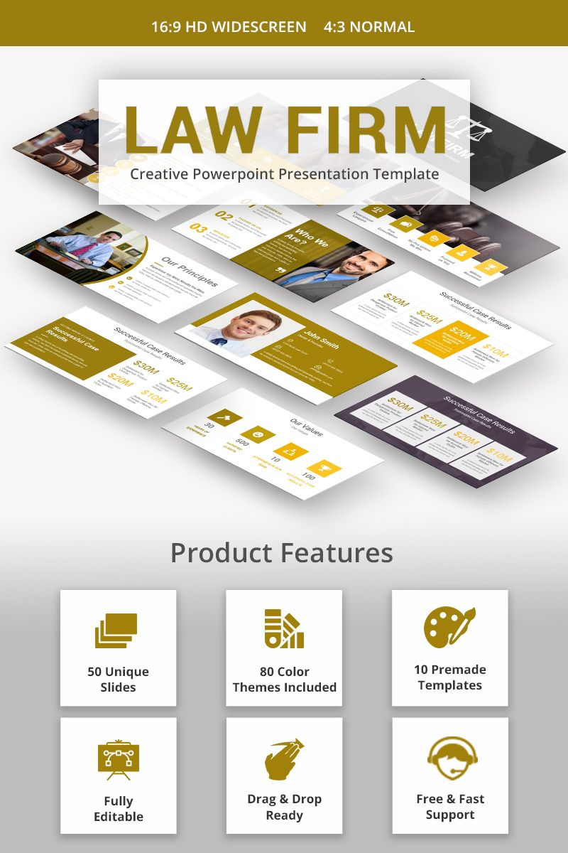 Law Firm Powerpoint Template 68684 Presentation Templates