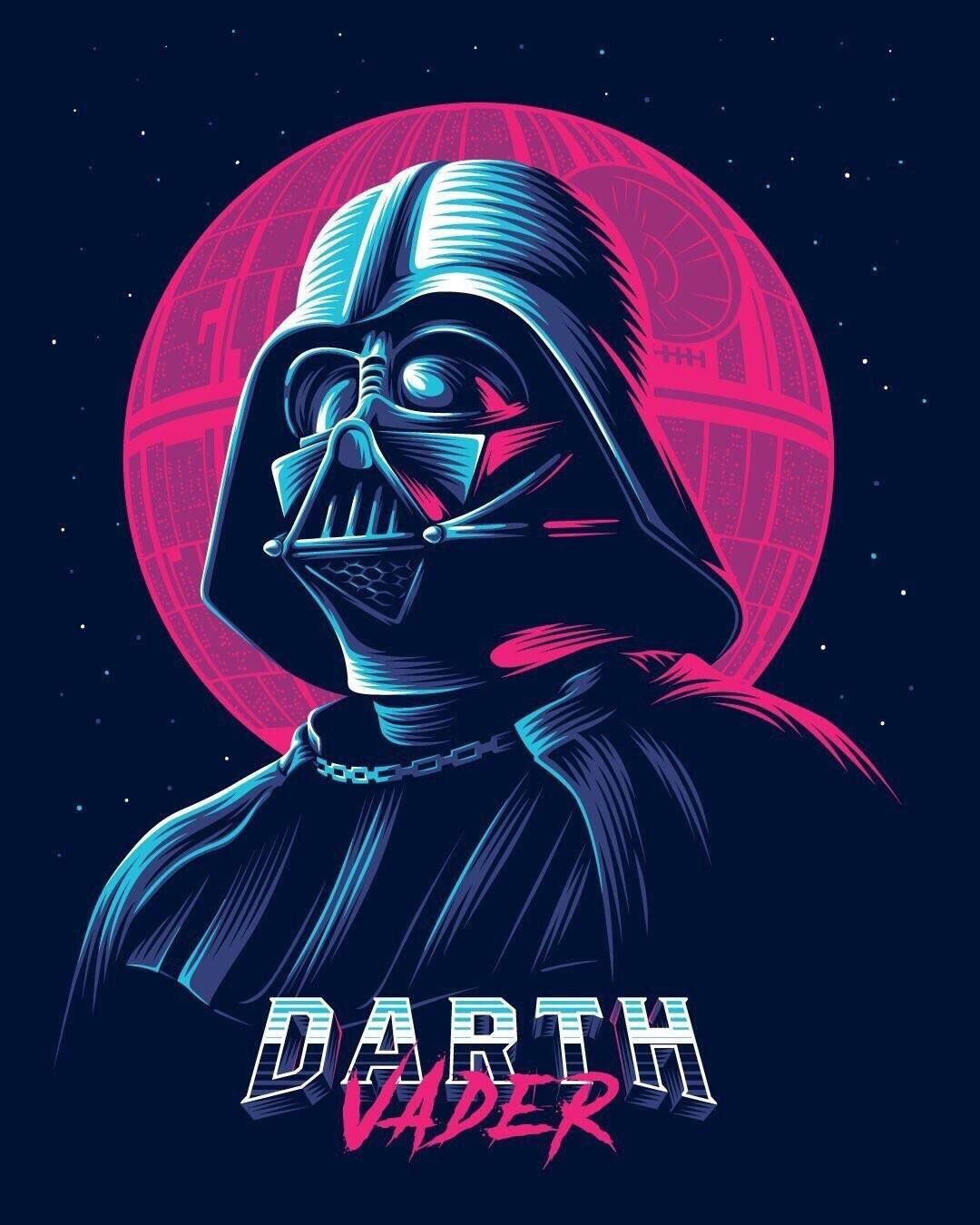 Outrun Vader Star Wars Illustration Star Wars Awesome Star Wars Poster