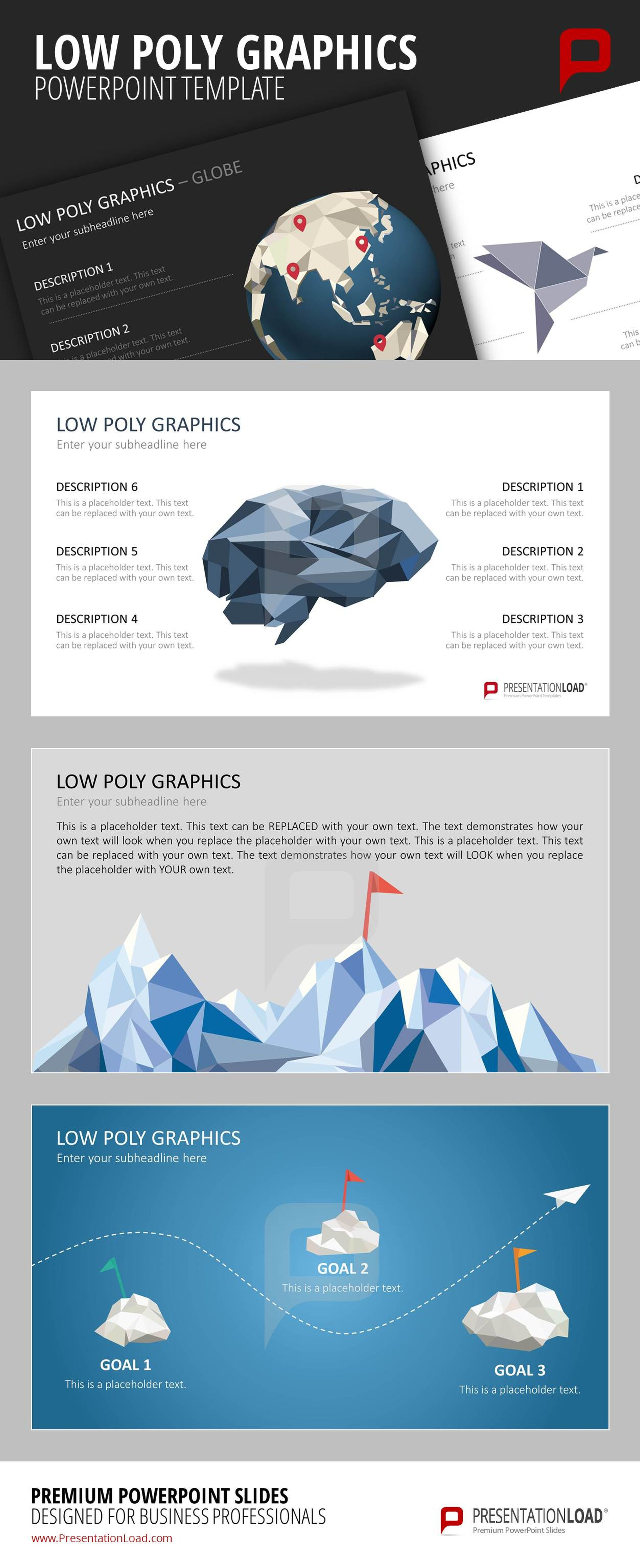 Discover the diversity of the Low Poly Graphics: globe, mountain ...