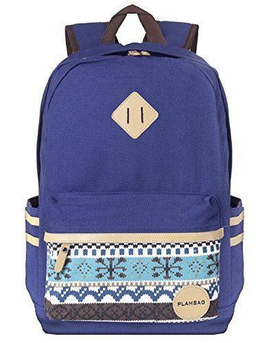 82a0d490c0d Plambag Causal Style Lightweight Canvas Cute Backpacks School ...