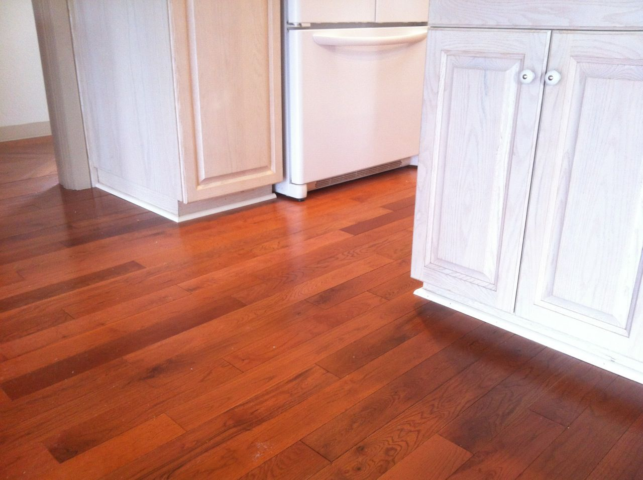 Hardwoods And Quarter Round Kitchen Cabinets Installing Hardwood Floors Hardwood Floor Installation