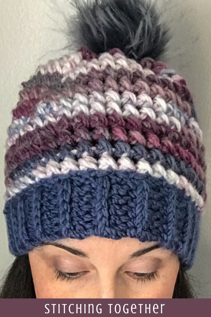 Love This Chunky Yarn Crochet Hat Pattern #crochethatpatterns