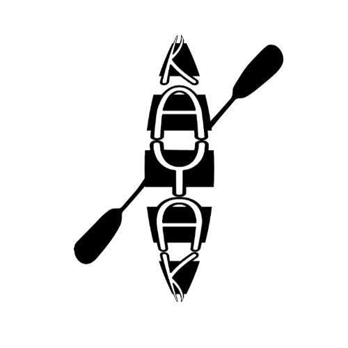 6 IN WHITE SKULL WITH OARS PADDLE VINYL DECAL KAYAK FISHING CAR TRUCK  WINDOW