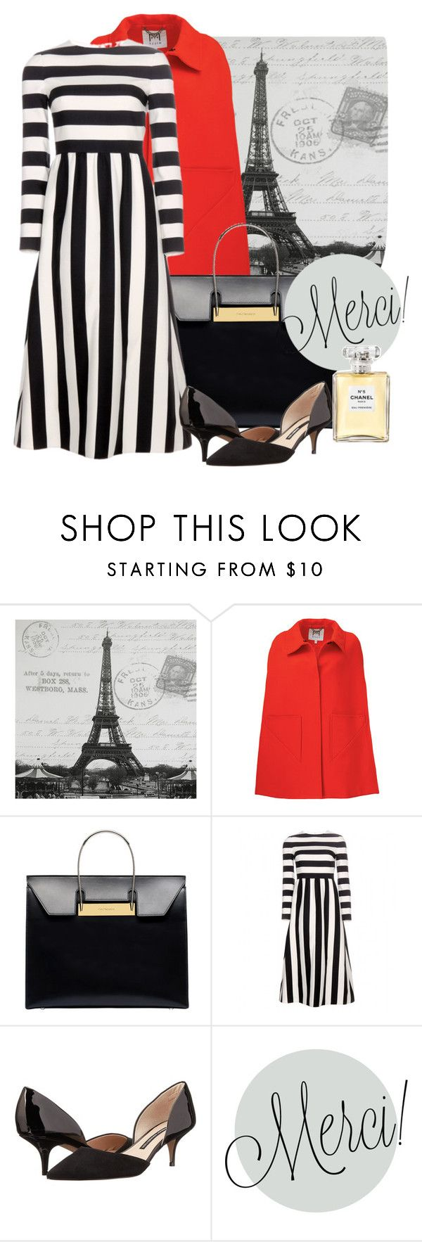 """""""France"""" by mimi-the-stupefying ❤ liked on Polyvore featuring Milly, Balenciaga, Valentino, French Connection and Chanel"""